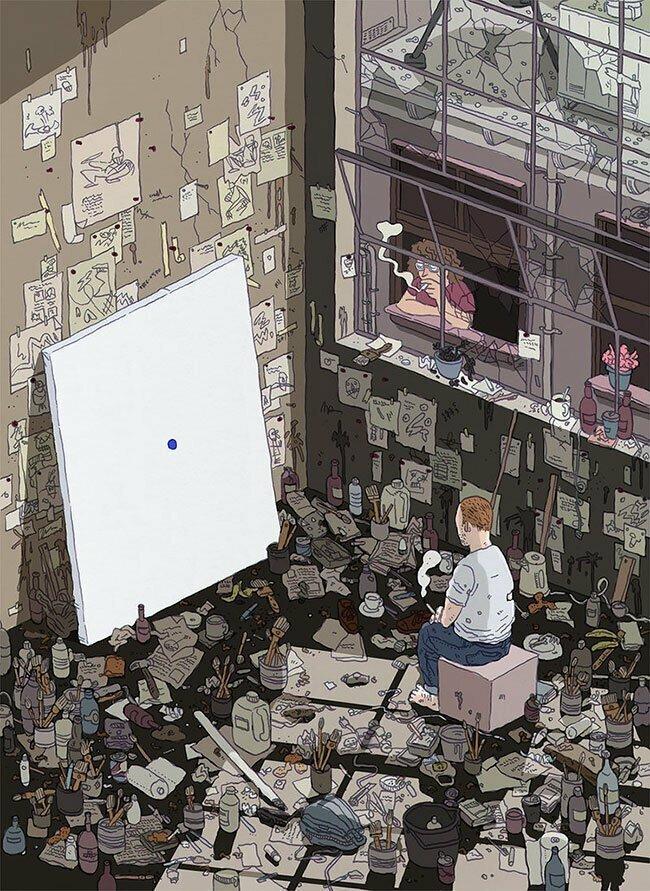 Илья Мильштейн и его детализированные иллюстрации