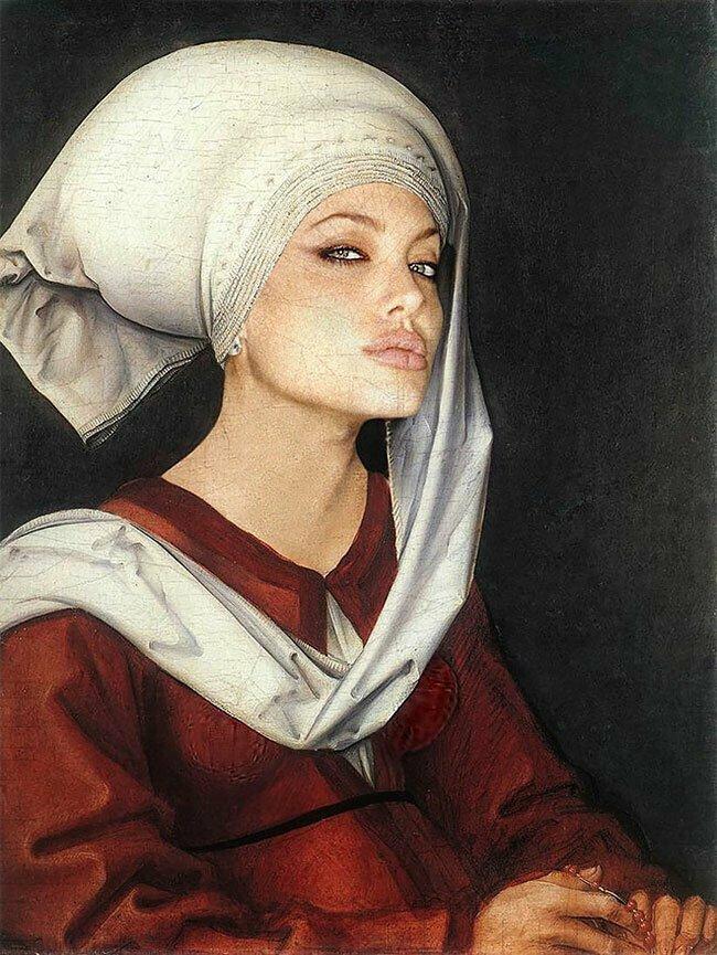 Современный ренессанс, или классический портрет с лицом селебрити звезды, знаменитости, искусство, прикол, смешно, творчество, фотошоп, юмор