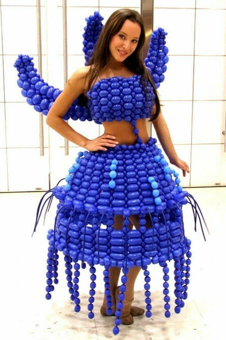 Синяя леди воздушные шарики, карнавал, костюмы, крутость, смелость, смешно