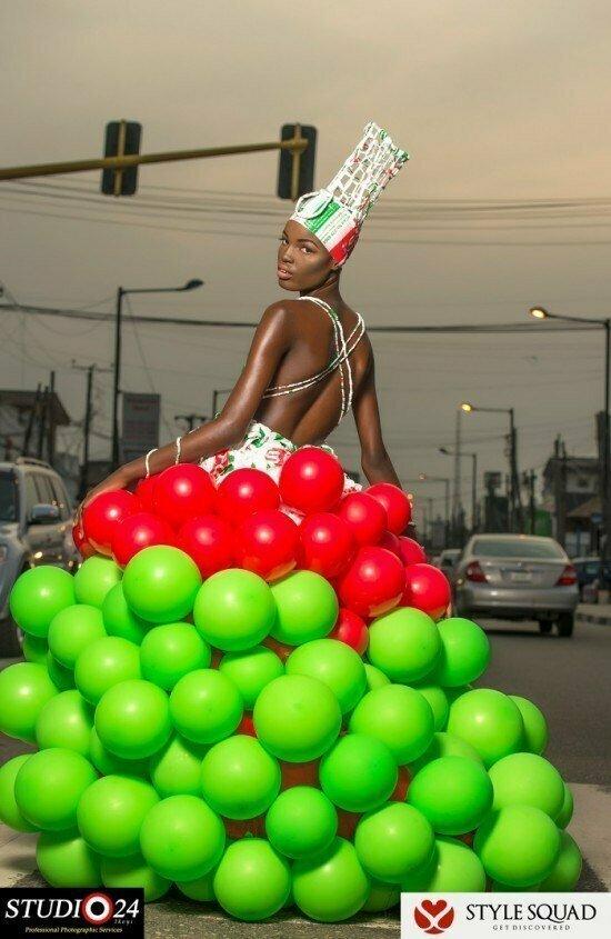 Очень сочный наряд! воздушные шарики, карнавал, костюмы, крутость, смелость, смешно