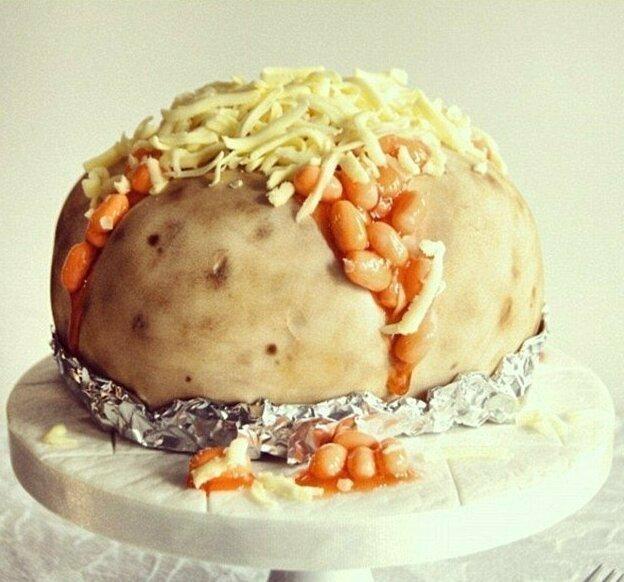 А вот и запеченная картошка с сыром