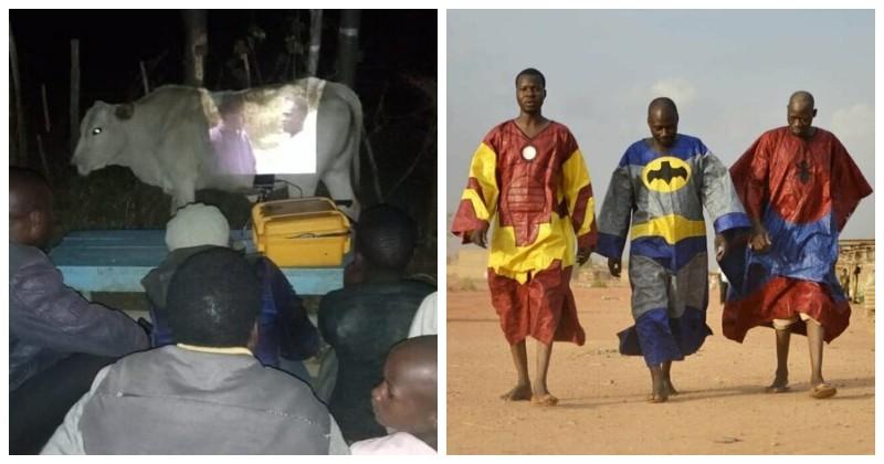 Кинотеатр и супергерои африка, национальные особенности, подборка, прикол, чёрный континент, юмор