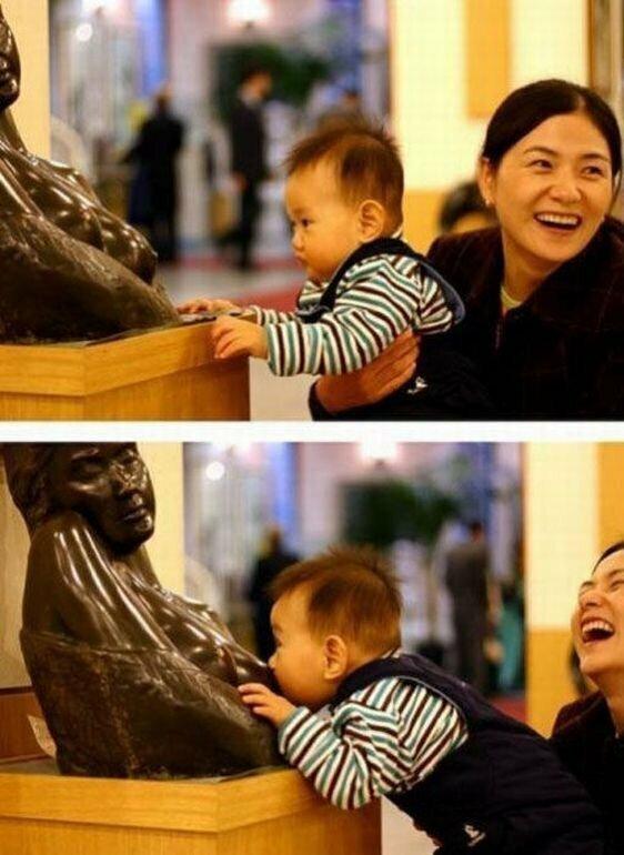 Лучше всех справляются с памятниками детки