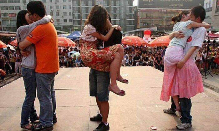 Китайская практика 6 июля, забавное, подборка, поцелуи, поцелуй, прикол