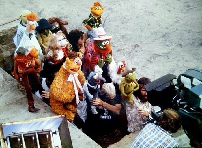 Фильм Маппетов, 1979 голливуд, за кулисами, кино, киномир, на съемочной площадке, секреты кинематографа, съемки, технические уловки