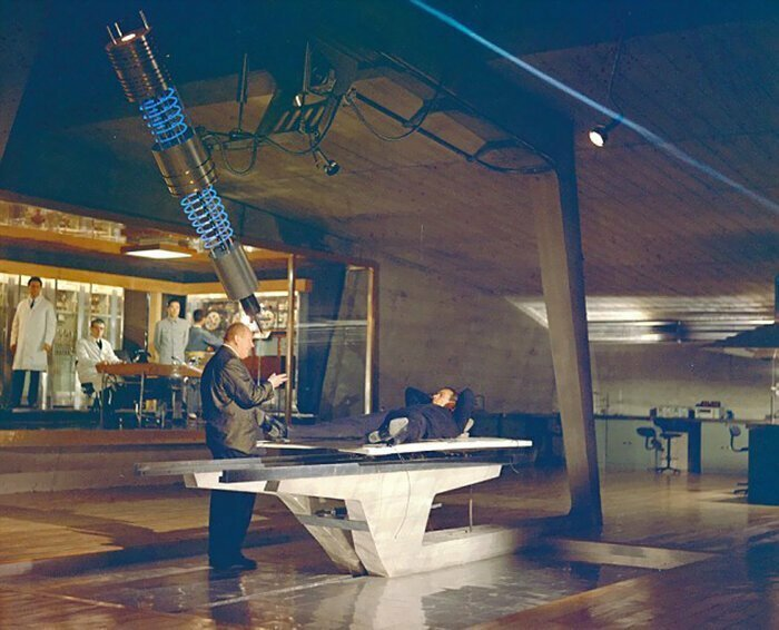 Голдфингер, 1964 голливуд, за кулисами, кино, киномир, на съемочной площадке, секреты кинематографа, съемки, технические уловки