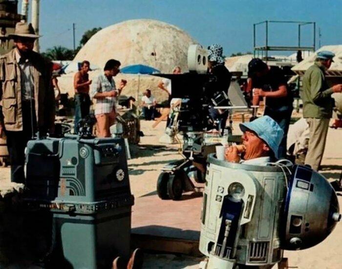 Звездные войны: Эпизод IV - Новая надежда, 1977 голливуд, за кулисами, кино, киномир, на съемочной площадке, секреты кинематографа, съемки, технические уловки