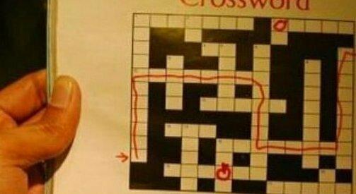 Как я прохожу кроссворды puzzle, гениально, головоломки, кроссворды, маразмы, пазлы, прикол, юмор