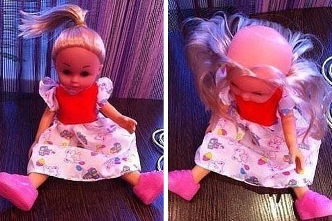 Даже у кукол такое случается забавное, лысина, облысение, подборка, прикол, причёски, юмор
