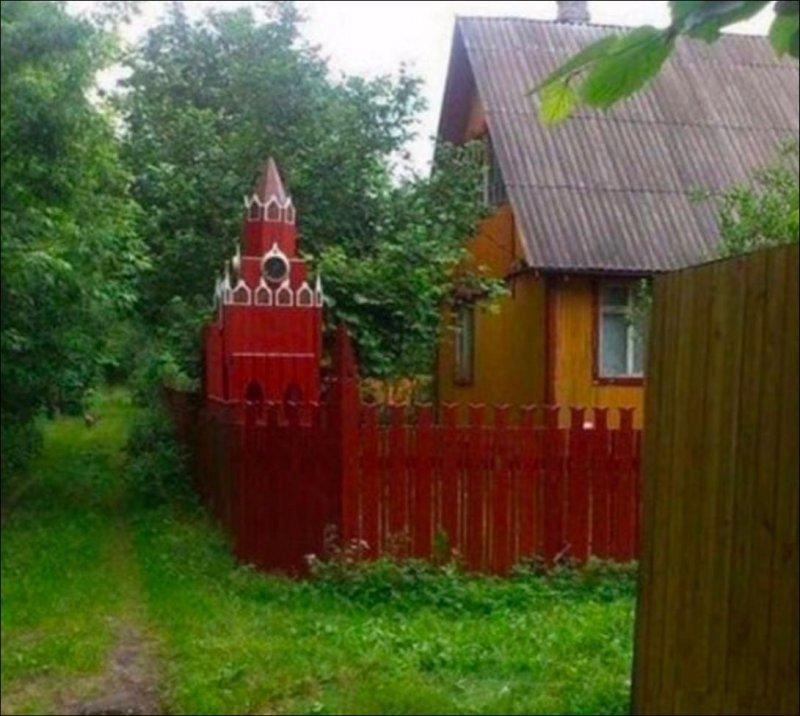 Посмотреть на Кремль? житейская хитрость, изобретатель, лайфхак, прикол, рукожоп, смекалка, юмор