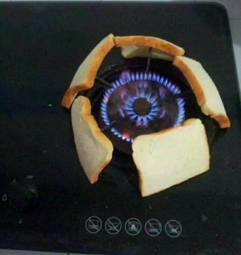 Нет тостера? Не беда! креатив, мышление, проблемы, решение, смекалка, фото