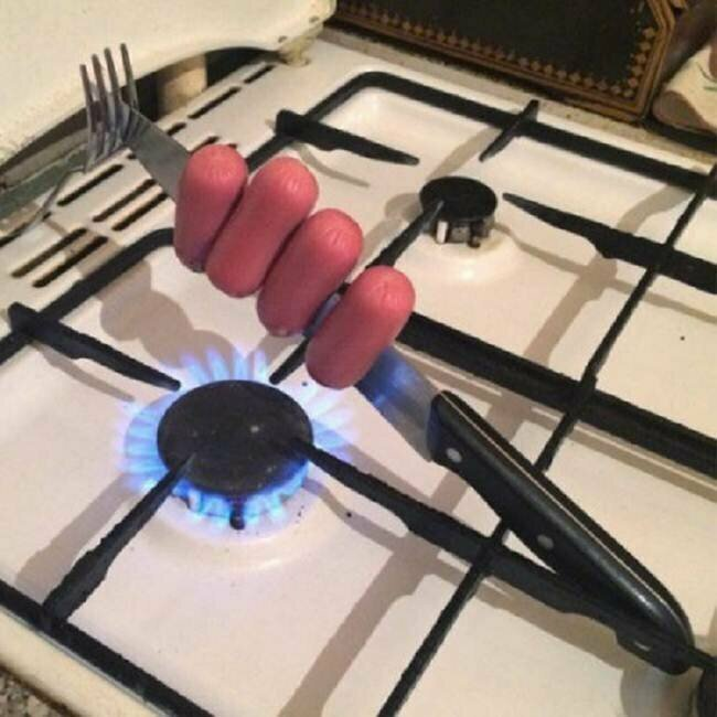 Когда нет сковородки под рукой креатив, мышление, проблемы, решение, смекалка, фото