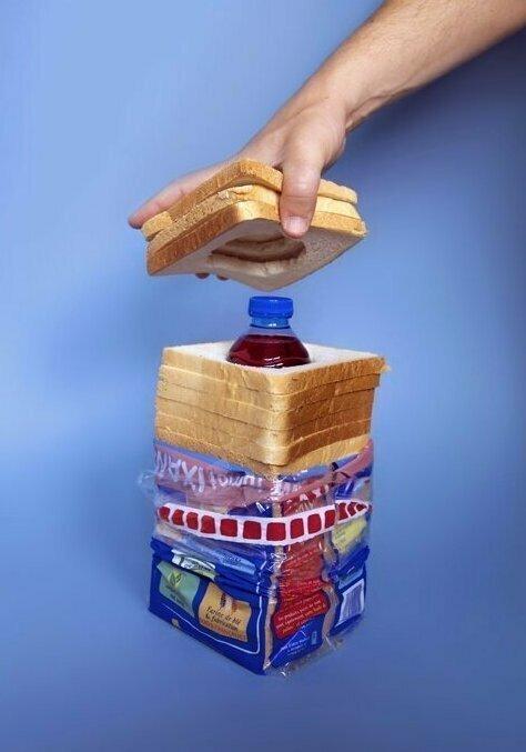 Спрятать бутылку можно везде