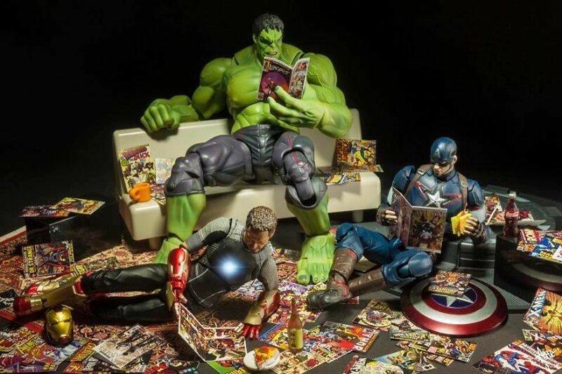 Чем заняты супергерои, пока их никто не видит жизнь, и грушки, прикол, супергерой, фотограф, эди харджо, юмор