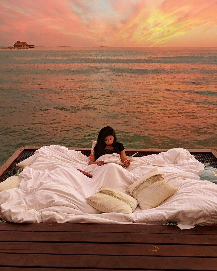 Курорт на Мальдивах, где можно спать над морем и под звездами ближе к природе, мальдивы, необычно, оригинально, остров, отель, под звездами, путешествия