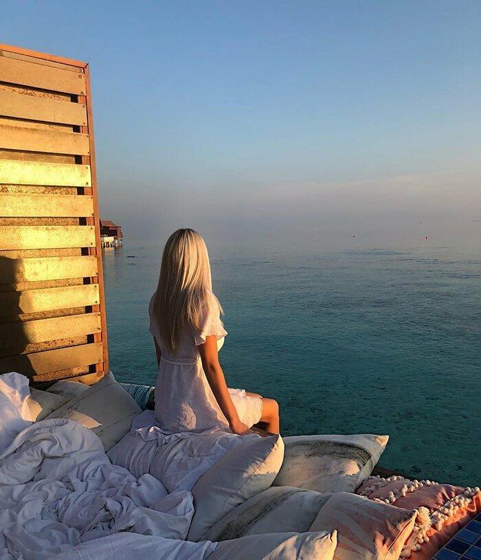 Курорт на Мальдивах, где можно спать над морем и под звездами