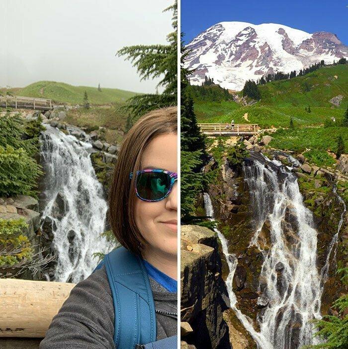 """""""Я провела в дороге 21 час, чтобы посмотреть на гору Рейнир. Хотела увидеть вид с открытки, но туман подвел"""""""