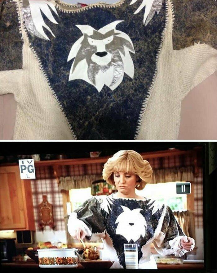"""""""Купил этот свитер несколько лет назад и выставил на Ebay. Продал его примерно за $80 покупателю под ником Goldberg Studios. Начал смотреть телешоу и увидел свитер в одном из эпизодов!"""""""