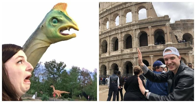 В соцсетях пользователи делятся своими наиглупейшими снимками в мире, забавно, кадр, люди, смешно, фото, юмор