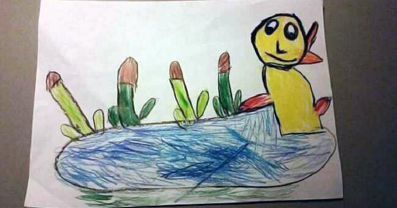 Детские рисунки со скрытым смыслом