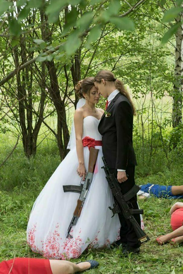 Свадебные фотографы и их гениальные задумки