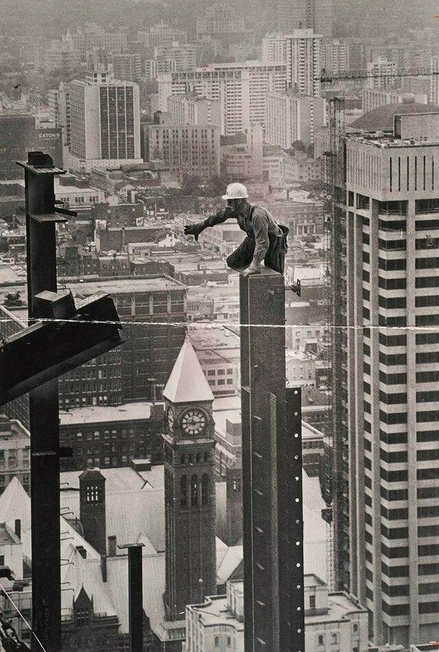 Так строят небоскребы во дают, мурашки по коже, ничего себе, страшно, фото, фотографии, фотофакты, храбрые парни