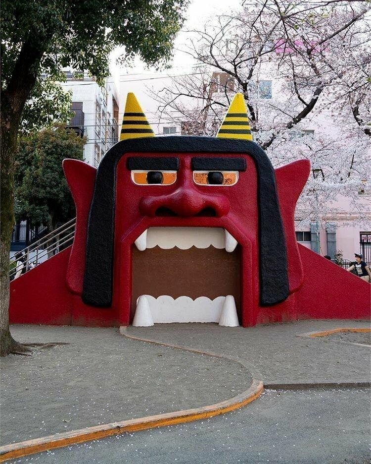 Обычная детская площадка жизнь, подборка, странность, фотография, фотомир, явление, япония