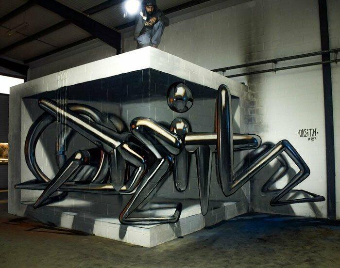 Зубодробительные 3D-граффити Серхио Одейта