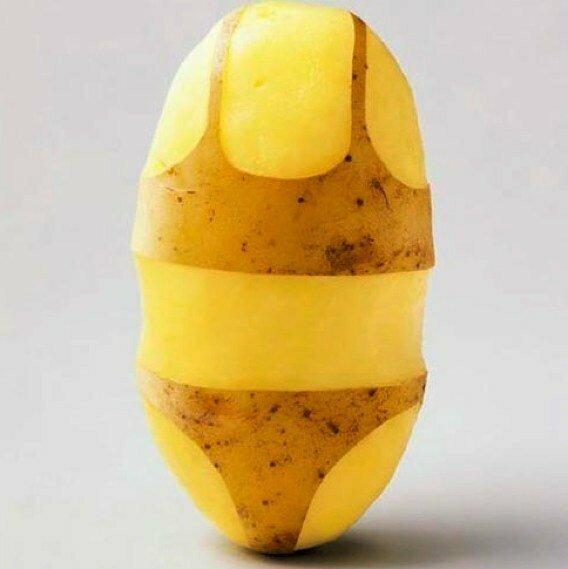 Картошка в купальнике