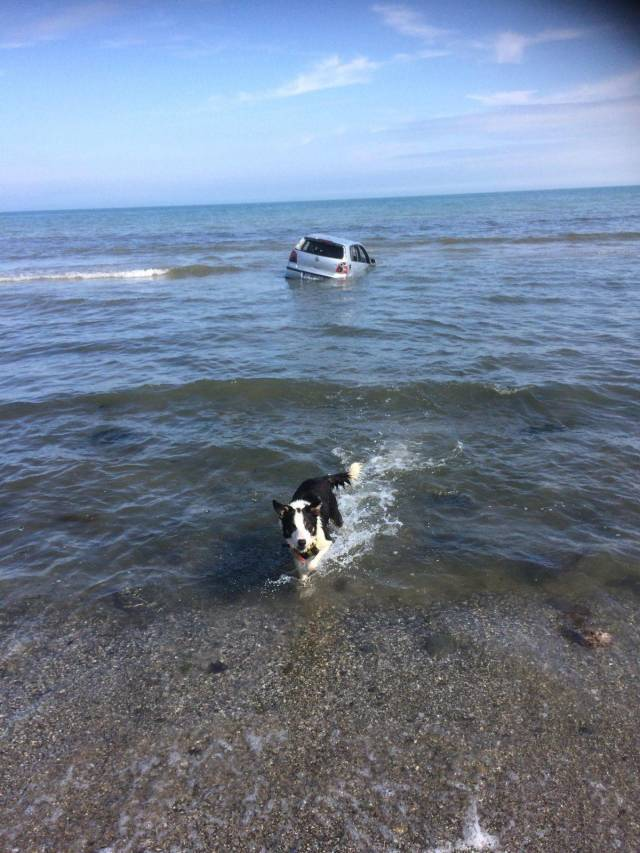 Называется, оставил машину на берегу