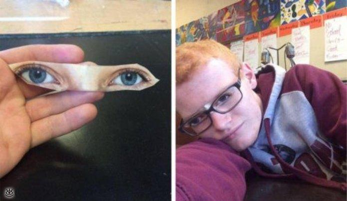 Сделал себе глаза...