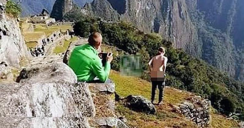 Двух австрийских туристов арестовали после того, как они оголили ягодицы в Мачу-Пикчу