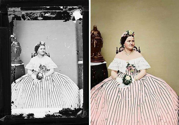 Мэри Тодд, супруга Авраама Линкольна, 1855 год