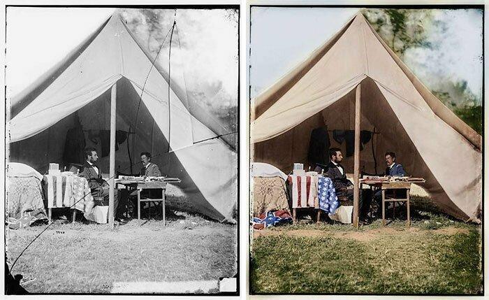 Авраам Линкольн и Джордж Макклеллан в Энтитеме, 3 октября 1863 год