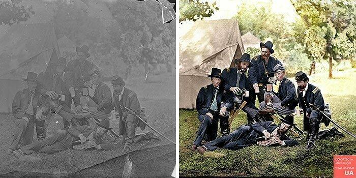Офицеры 3-й и 4-й Пенсильванской кавалерии во времена гражданской войны, 1862 год