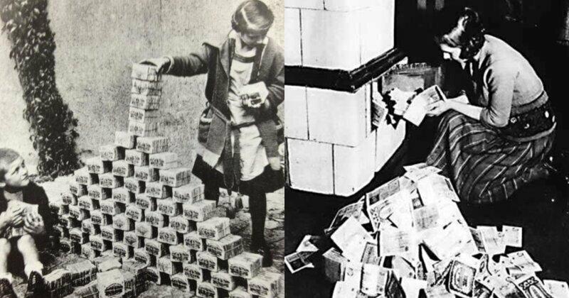 Гиперинфляция: банкноты вместо обоев