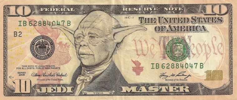 Доллары с Иисусом, лицехватом и постаревшим Кэпом