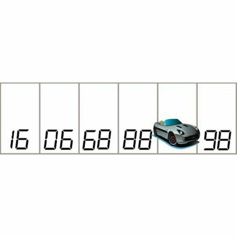 Какой номер парковки скрывается под машиной?