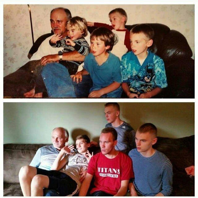 Разница между верхним и нижним фото 10 лет