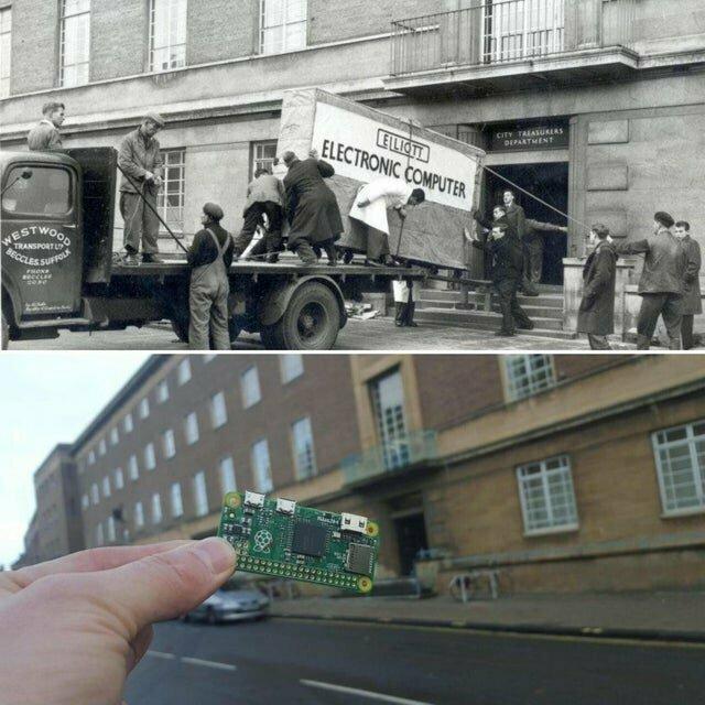 А вот еще интересный кадр: на фото 59 лет прогресса