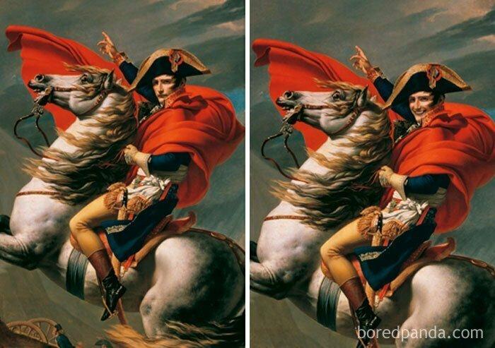 Наполеон при переходе через Альпы, Жак-Луи Давид