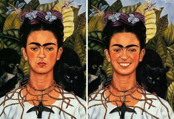 Автопортрет с терновым ожерельем и колибри, Фрида Калло