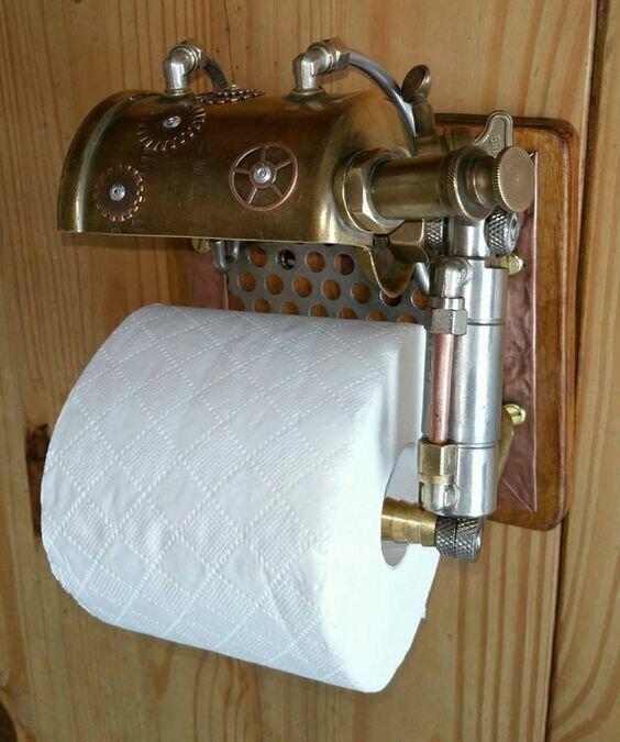 Держатель для туалетной бумаги в стиле стимпанк