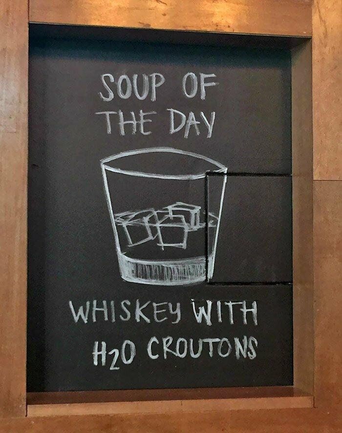 Супчик дня: виски с крутонами из H2O