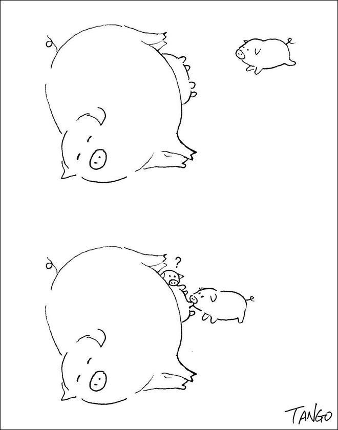 Гао Танго и его остроумные комиксы