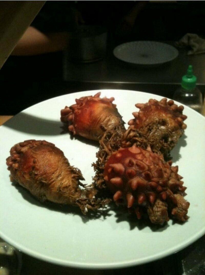 Это чудо нам подали в суши-ресторане. Что оно такое?!