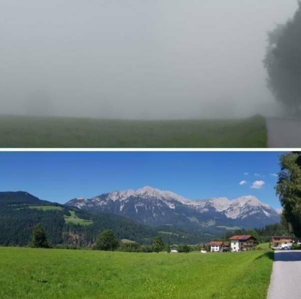 То же место после рассеивания тумана
