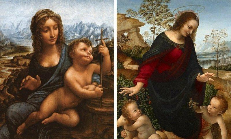 Если на картине пейзажи из «Властелина колец» со странным синим туманом и кудрявые Мадонны — это Да Винчи