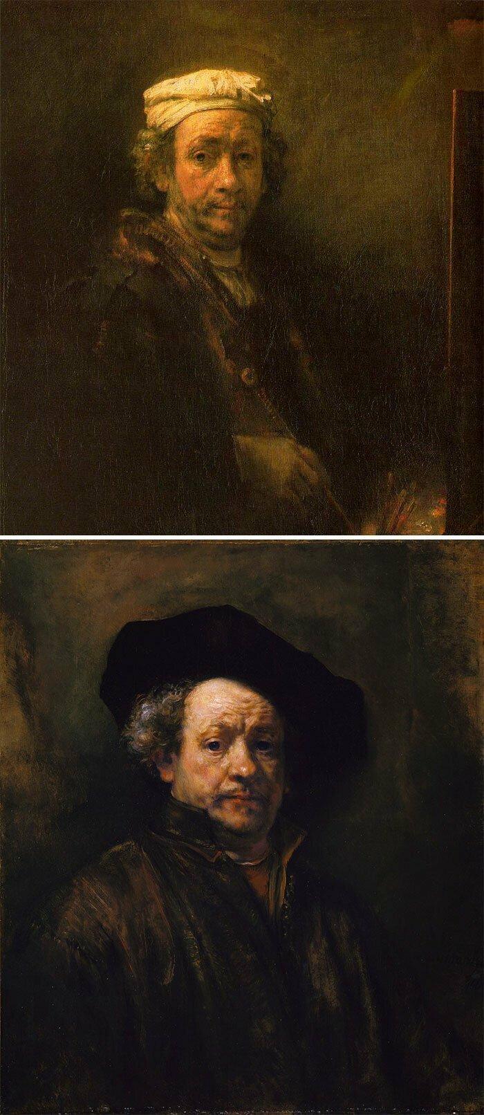 Если люди на картине выглядят как бомжи, освещаемые тусклыми уличными фонарями — это Рембрандт