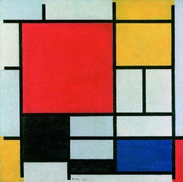 Если на картине цветная таблица Exel с разноразмерными квадратиками — это Мондриан